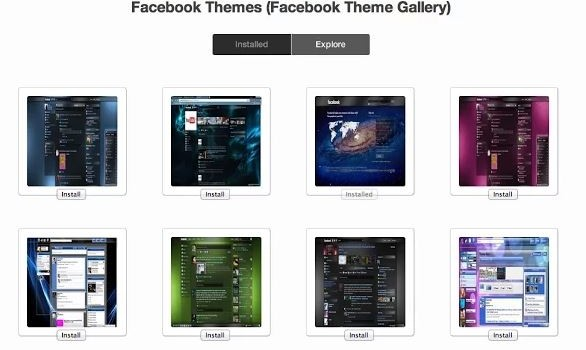 Change Facebook Theme