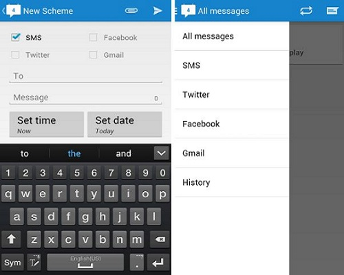 Schedule SMS and Social Messages