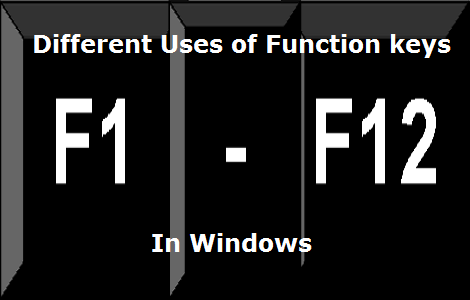 Uses of F1-F12