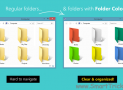 Customize folders with different colors in Windows